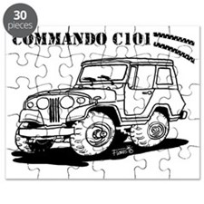 Jeepster Commando C101 cartoon Puzzle
