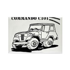 Jeepster Commando C101 cartoon Rectangle Magnet