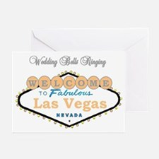 Las Vegas Wedding Bells Ringing Card Pk of 10