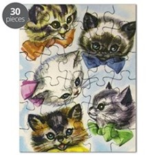 Vintage Kittens in Bow Ties Puzzle