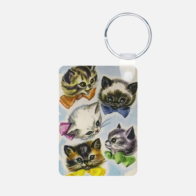 Vintage Kittens in Bow Tie Keychains