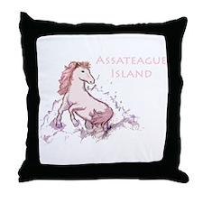 Assateague Wild Pony Sketch Throw Pillow