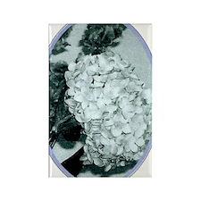 Retro Floral Light Rectangle Magnet