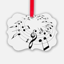 Music Notes shirt Ornament