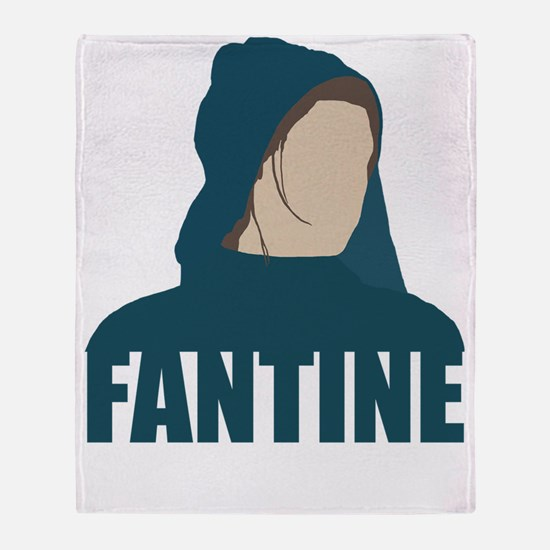 Fantine - Anne Hathaway - Les Misera Throw Blanket