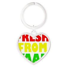 FRESH FROM YAAD RASTA Heart Keychain