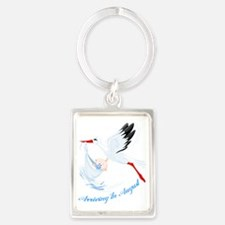 Arriving in August Portrait Keychain