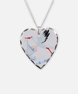 Arriving in August Necklace Heart Charm