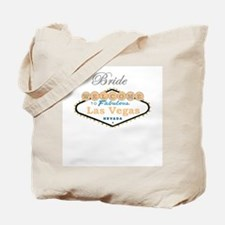 Las Vegas Bride Tote Bag Peach