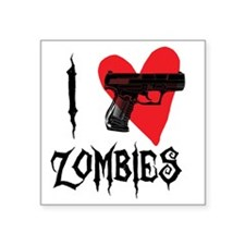 "I Heart Zombies Square Sticker 3"" x 3"""