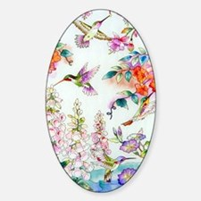 Hummingbirds and Flowers Landscape Decal