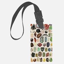 Vintage Geology Rocks Gemstones Luggage Tag