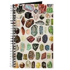 Vintage Geology Rocks Gemstones Journal