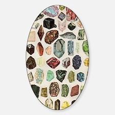 Vintage Geology Rocks Gemstones Decal