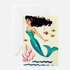 Vintage Mermaid Under the Sea Greeting Card