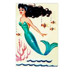 Vintage Mermaid Under the Postcards (Package of 8)