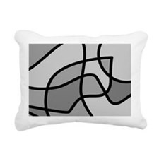 Monotone Rectangular Canvas Pillow