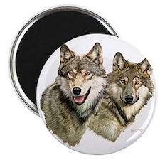 Wolf Heads Magnet
