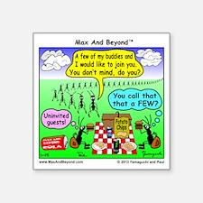 "Ants at Picnic Square Sticker 3"" x 3"""