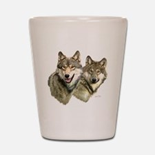 Wolf Heads Shot Glass
