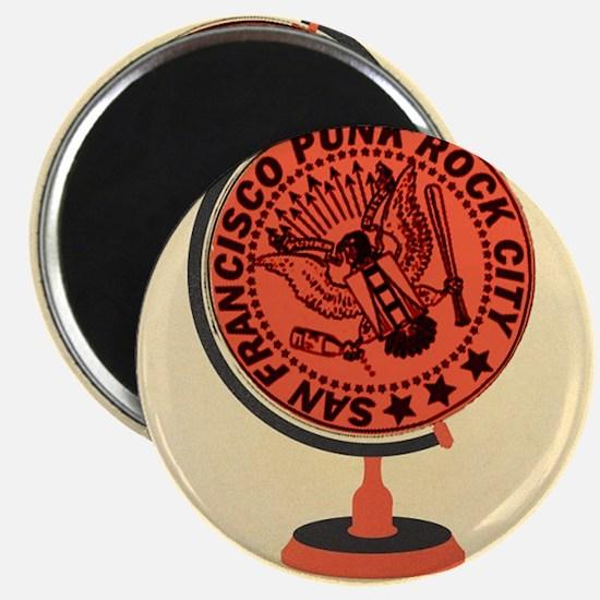 Punk Globe Magnet