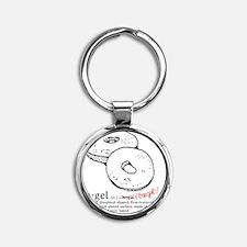 Bagel Round Keychain