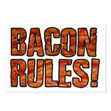 BACON RULES! T shirt Postcards (Package of 8)