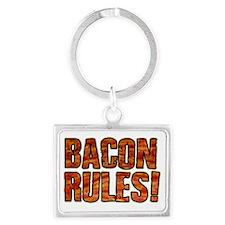 BACON RULES! T shirt Landscape Keychain
