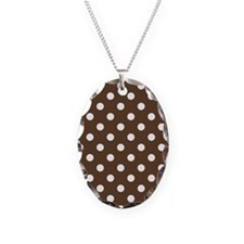Dotted Chocolate Brown Necklace