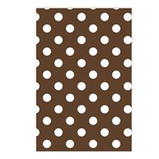 Dotted Chocolate Brown Postcards (Package of 8)