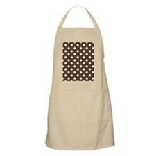 Dotted Chocolate Brown Apron