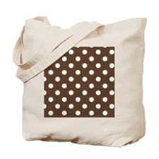 Dotted Chocolate Brown Tote Bag