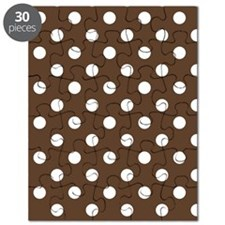 Dotted Chocolate Brown Puzzle
