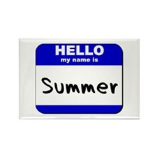 hello my name is summer Rectangle Magnet
