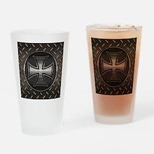 grid-iron-malt-BUT Drinking Glass