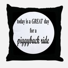 piggybackbutton Throw Pillow