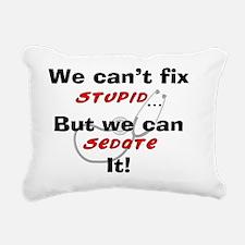 We can fix stupid for LI Rectangular Canvas Pillow