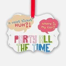 Collage Party all the Time Ornament