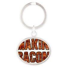 MAKIN BACON Oval Keychain