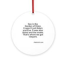 Adam Snake Round Ornament