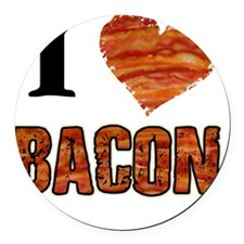 I love Bacon! Round Car Magnet