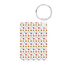 Whimsical Dots Aluminum Photo Keychain