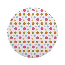 Whimsical Dots Round Ornament