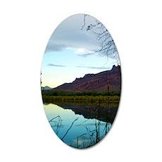 Saguaro Lake 35x21 Oval Wall Decal