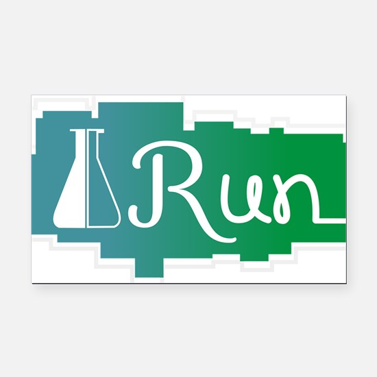 RUN - Zen Labs Logo 3 Rectangle Car Magnet