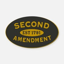 Second Amendment Sticker Oval Car Magnet