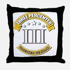 Three Percenter Throw Pillow