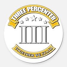 Three Percenter Round Car Magnet