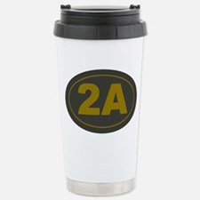 2A Oval_Dark Olive/HE Y Travel Mug