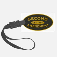 Second Amendment Oval_patch Luggage Tag